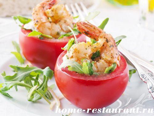 Как приготовить фаршированные помидоры: самые вкусные рецепты с фото. Помидоры фаршированные креветками, творогом, крабовым мясом, сыром и чесноком, рисом и овощами. Сырые фаршированные помидоры и запеченные фаршированные помидоры от Домашнего Ресторана.