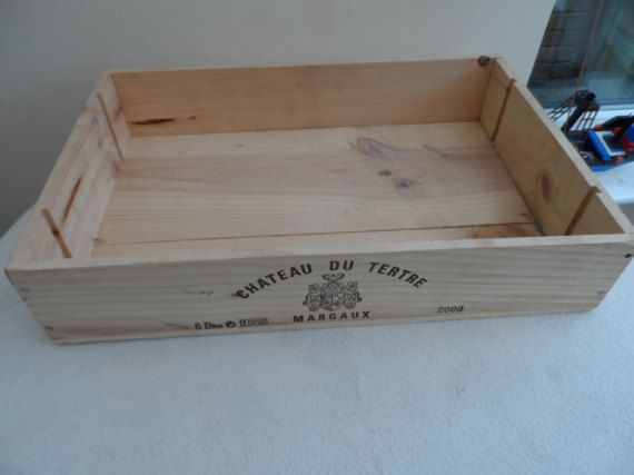 Large 6 full bottles size Traditional French Wooden wine box