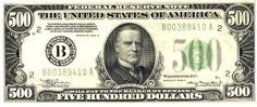u.s. five hundred dollar bill | Five Hundred U.S. Dollars, Five Hundred Dollar Bill