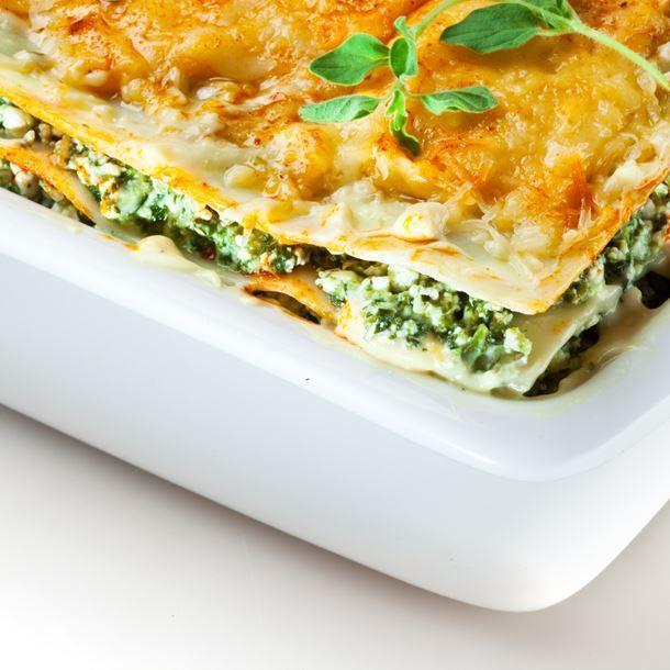 Lasagnes brousse-épinards