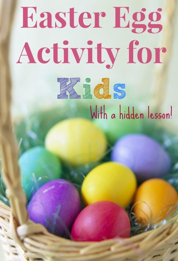 Easter egg activity for kids to teach kids about Easter