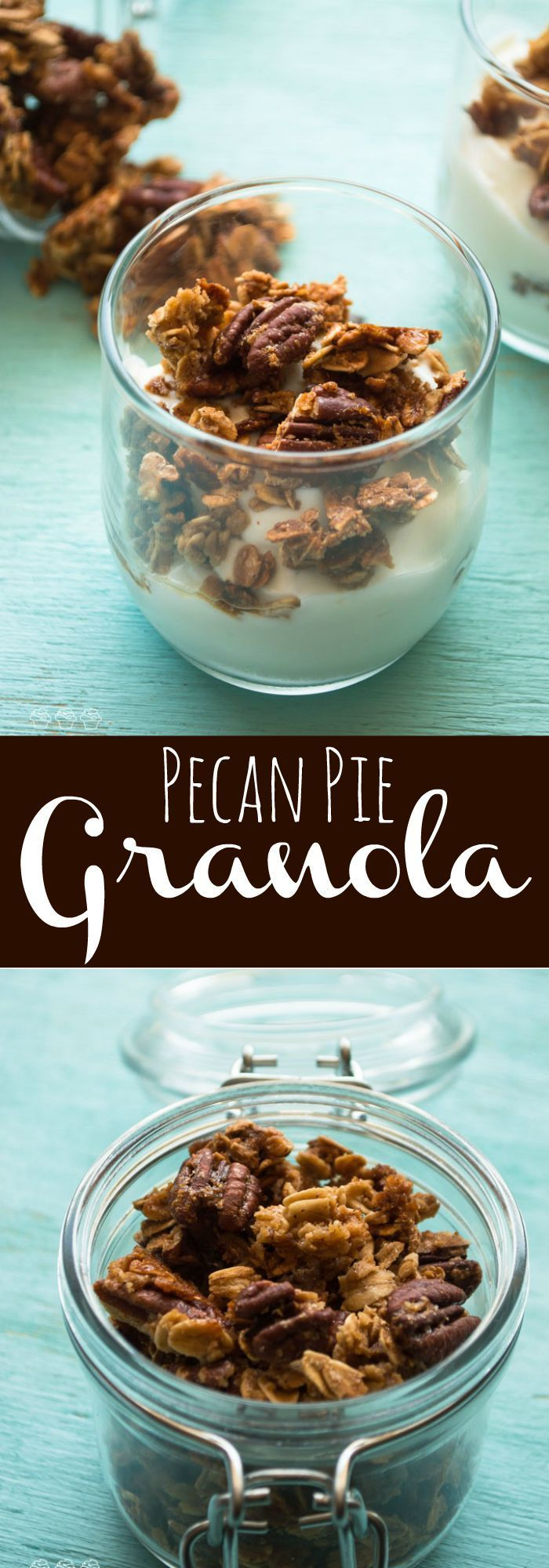 Enjoy the classic fall flavors of pecan pie with this crunchy treat including roasted pecans and a hint of cinnamon.