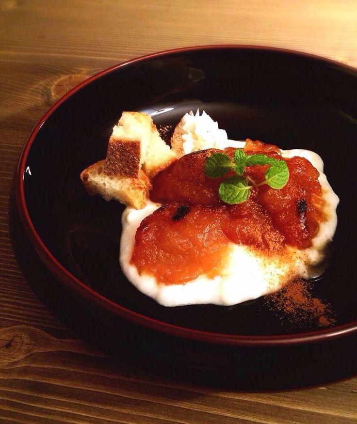 秋のデザート盛り。 Fudanシリーズ_きょうかはち溜色   http://j-cocomo.jp