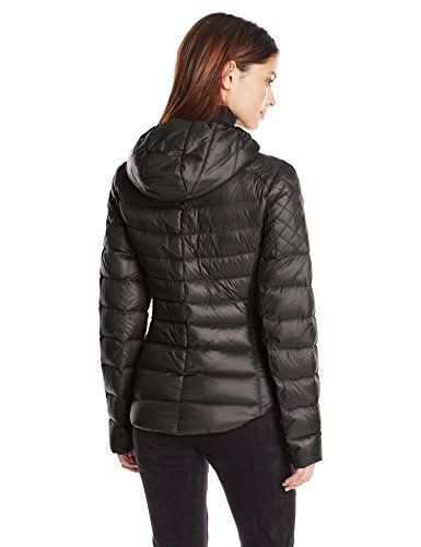BCBGeneration Women's Packable Jacket, Black, Large