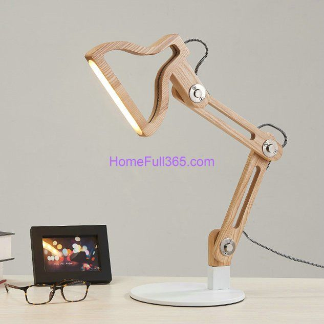 Creative+simplicity+solid+wood+desk+table+lamp+style+5