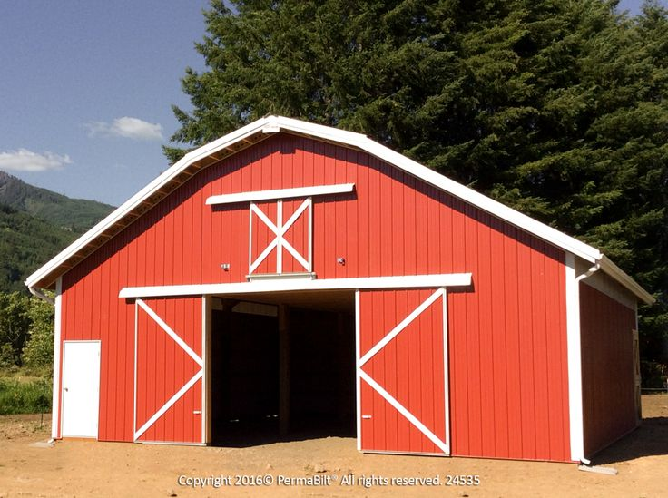 Great looking gambrel style pole building we built in glenoma dimensions are 36 39 x36 39 x12 - Gambrel pole barns style ...