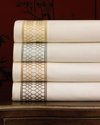 """""""Willow"""" Lattice Sheet Sets at Horchow."""