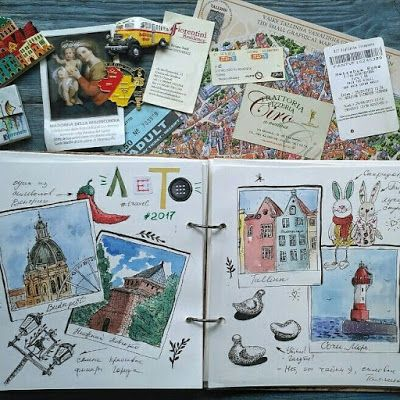 #art_craft #irina_kutuzova #travelbook #illustration