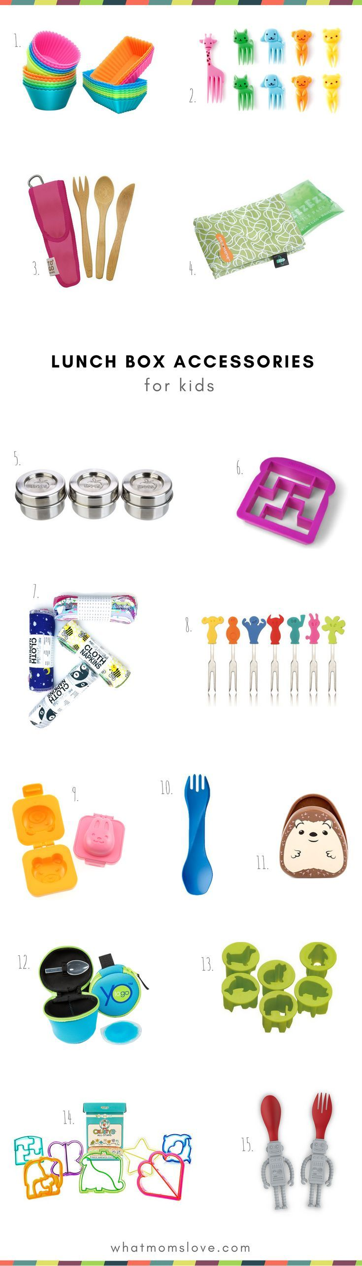 Fun Lunch Box Supplies and Tools for kids | How to pack a bento box and make a fun, healthy lunch for kindergarteners to teens | Back to School Guide