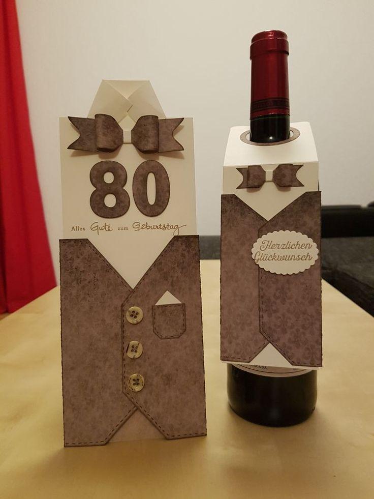 Karte und Flaschenanhänger - Geburtstag