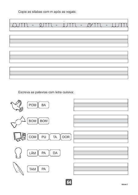 Atividades para Imprimir - Caderno de Caligrafia - SÓ ESCOLA