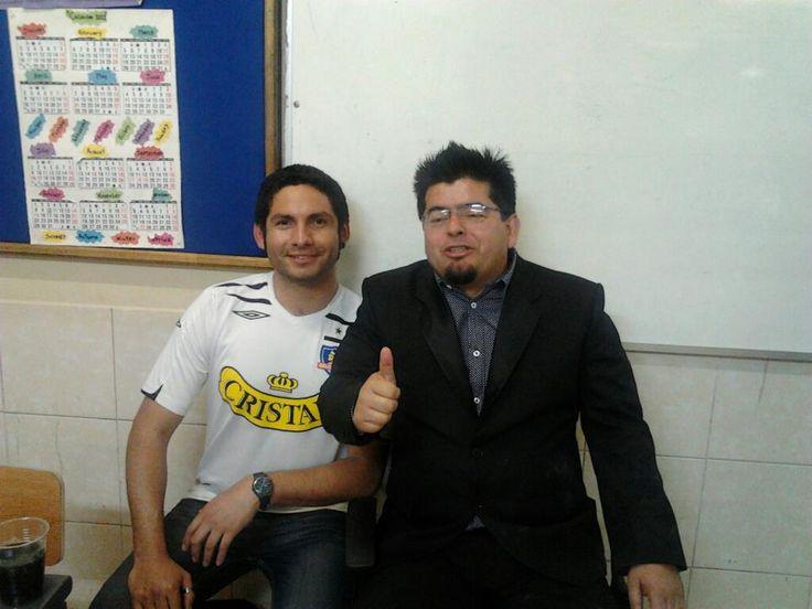 Jano Cid, junto a Mauricio Medina.