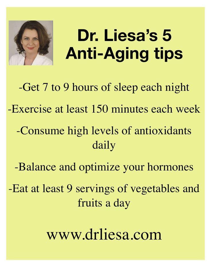 Dr. Liesa's 5 Anti-Aging Tips