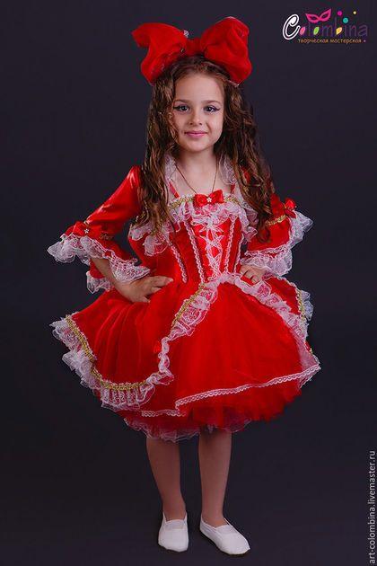 Купить или заказать Костюм куклы в интернет-магазине на Ярмарке Мастеров. карнавальный костюм куклы для девочки комплектация: платье, болеро, панталоны, бант размер 134-146+300…
