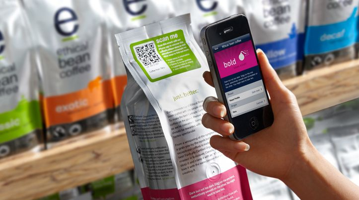 Scanning the unique QR code on Ethical Bean coffee packaging lets you explore where your coffee comes from, who grew it, who roasted it, and what it's specific cupping score is! Technology connecting you with your coffee's organic roots! Ethical Bean is a National Support for organic Week 2014!