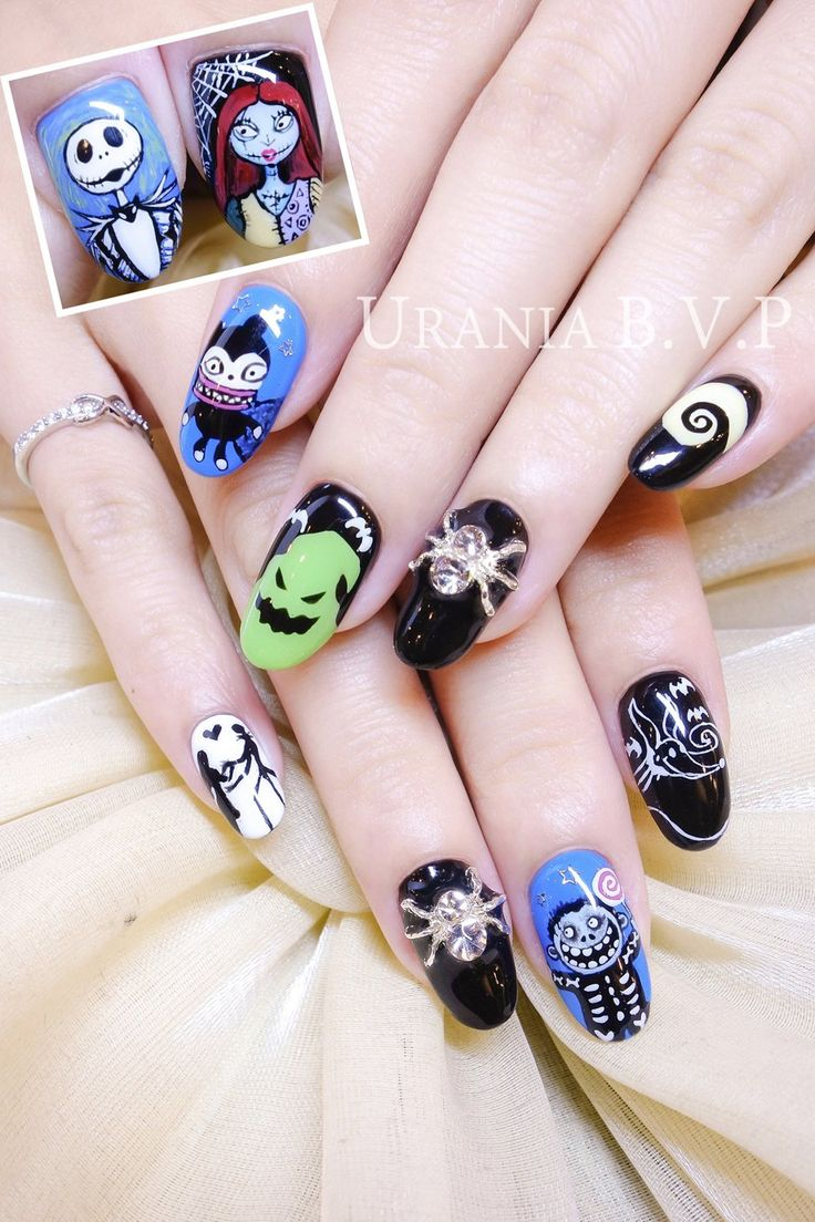 34 best crazy impressive nail art images on pinterest dress up the nightmare before christmas nail art prinsesfo Image collections