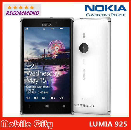 Original Refurbished Unlocked Nokia Lumia 925 Dual Core 1GB RAM 8MP Camera 4.5inch Touch Screen Microsoft Windows 8 Smart Phone