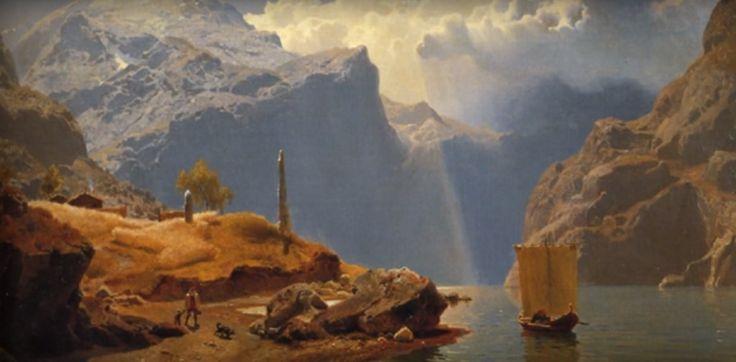 Hans Fredrik Gude e la #pittura romantica norvegese. Tra #Schopenhauer e #Leopardi... www.facebook.com/interrogandolemuse/posts/856987594406268
