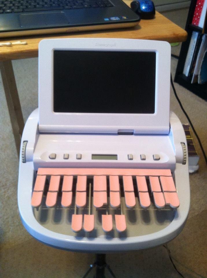 court reporting machine