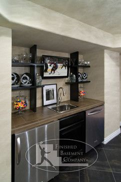 17 best ideas about small finished basements on pinterest small basement bars small basement - Modern wet bar ideas ...