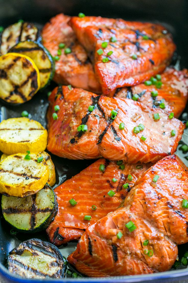 """This grilled maple salmon recipe is a KEEPER! Maple salmon is flaky, juicy and so flavorful! Marina writes """"By far, the BEST salmon recipe I've ever tried"""" 
