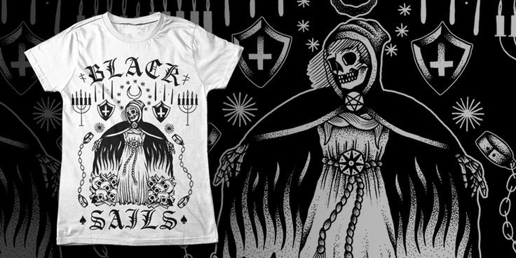 """BLACK SAILS - DEATH"" t-shirt design by blacksailsuk"