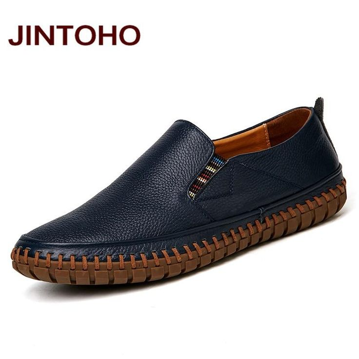 Cheap shoe handbag, Buy Quality shoes custom directly from China shoes  basketball shoes Suppliers: JINTOHO Big Size Men Genuine Leather Shoes Slip  On Black ...