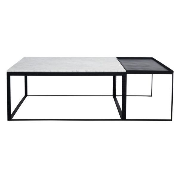 Modern Square Marble Coffee Table Set