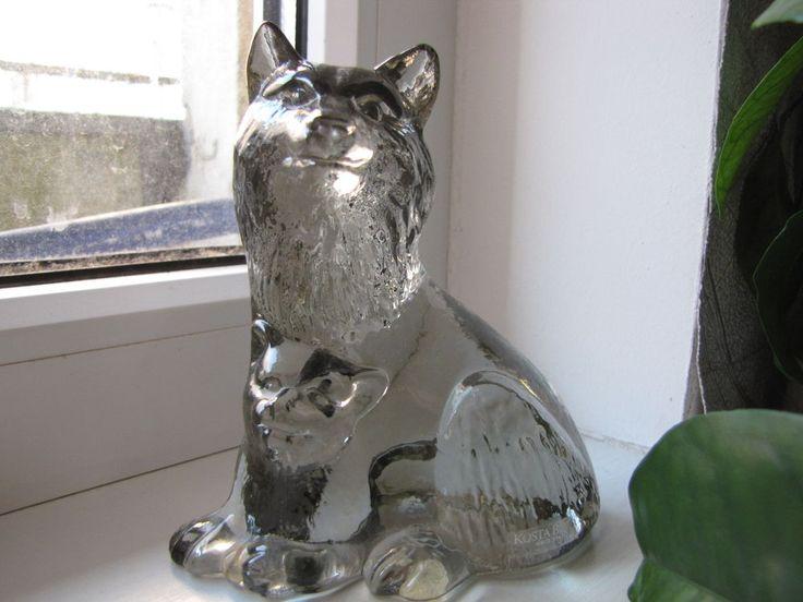 Sweden Kosta Boda Paul Hoff  Wolf Canis Lupus art glass figurine WWF animals #KostaBoda #PaulHoff