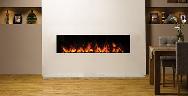 small contemporary electric fireplace