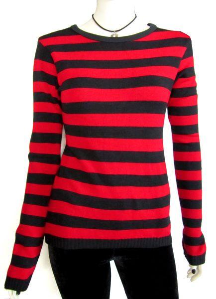 jersey chica rayas rojas y negras.jpg (434×600)