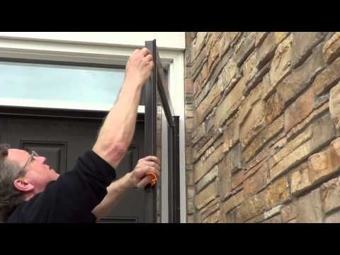 How To Install Storm Doors using 45-Minute Installation System - YouTube