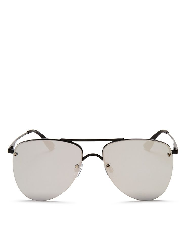 Le Specs The Prince Frameless Mirrored Aviator Sunglasses, 57mm - 100% Exclusive