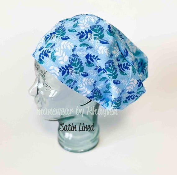Royal Blue Satin Lined Scrub Cap Scrub Hat Satin lined Surgical Scrub Cap Satin Lined Surgical Scrub Hat Scrub Cap
