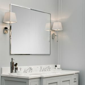 Chrome Framed Mirror Large Double with Trinity Wall Lights