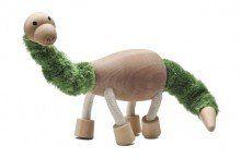 Anamalz Brontosaurus wooden toy figure   www.minizoo.com.au
