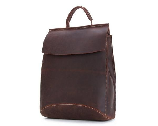 minimalist designed leather backpacks / bags