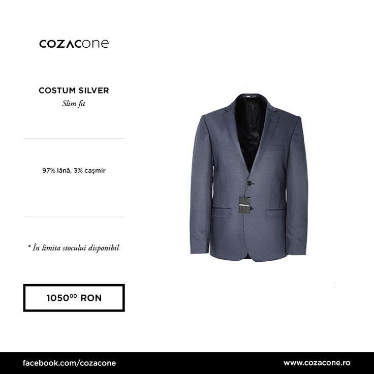 Un costum gri croit slim arată bine în orice combinaţie: http://www.cozacone.ro/produse/detalii/costum-cozacone-silver/