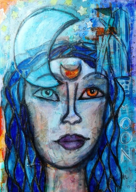 Buy LUNA, Mixed Media painting by mimulux patricia no on Artfinder. Discover thousands of other original paintings, prints, sculptures and photography from independent artists.