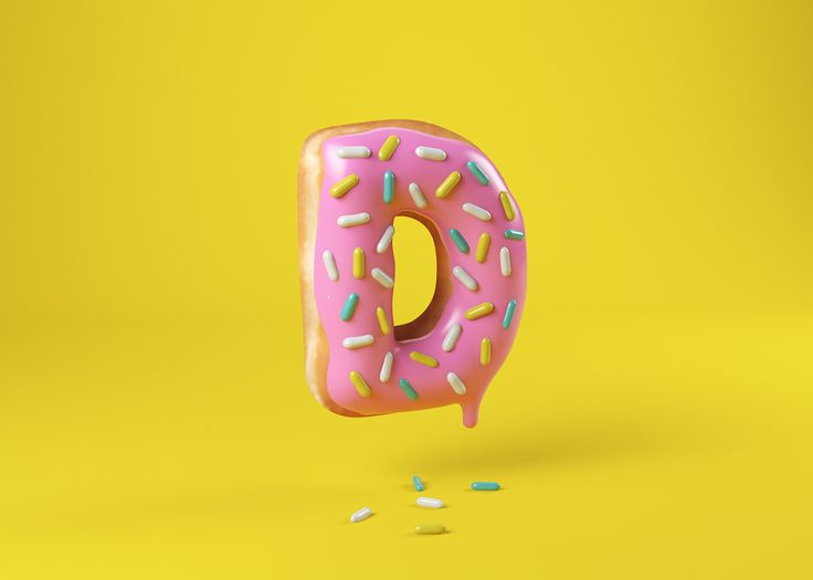 Food Alphabet, de Cees. Diseño 3D para 36 Days of Type