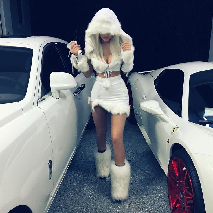 Kylie Jenner as a snow princess.    - ELLE.com