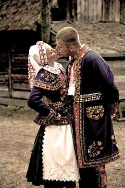 Lachy Sądeckie costume, Poland