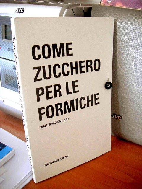 "Matteo Martignoni's special handmade book ""Come Zucchero per le formiche"".
