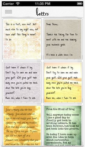 """Lettrs: Absolutely genius app that lets you """"write"""" letters on your phone, then they'll mail them for you on beautiful paper. Even choose parchment sealed with wax stamps!"""