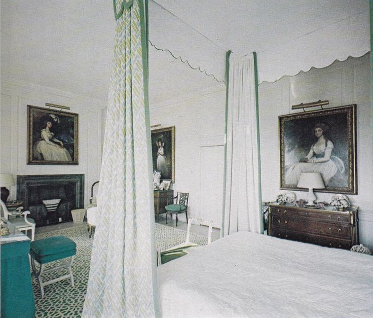 Bedroom In A Manor Decorated By David Hicks