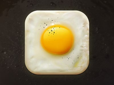 Dribbble - Fried Egg Icon by Creativedash