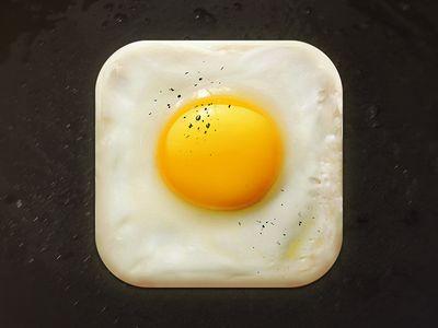 Fried Egg Icon - iOS icon found on Dribbble.