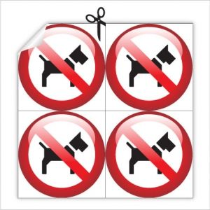 Наклейка выгул собак запрещен