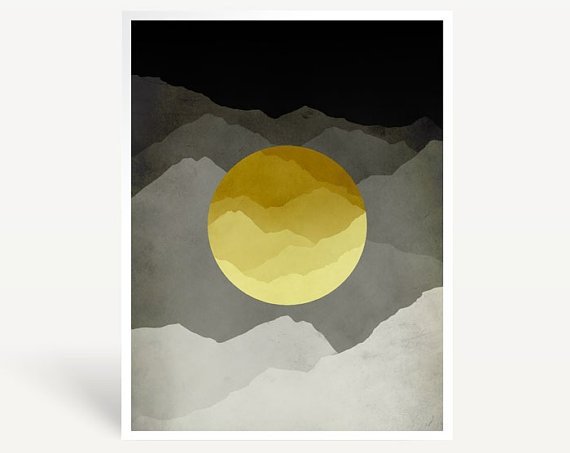 Mountains Abstract Landscape Mid Century Art Print by evesand, $18.00Mountain Landscapes, Minimalist Posters, Mid Century Modern, Modern Art, Art Prints, Art Abstract, Mid Century Art, Mountain Abstract, Abstract Landscapes