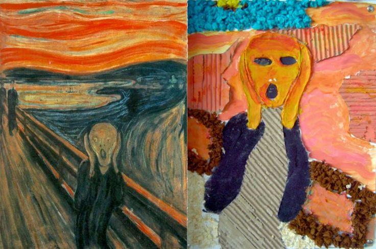 Interpretando obras de arte con texturas táctiles.